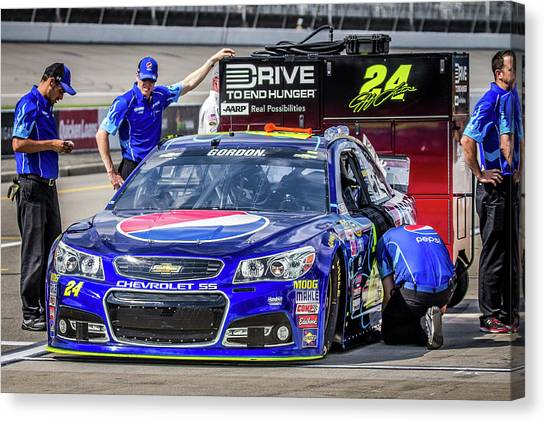 Hendrick Motorsports Canvas Print - One Final Ride by Alex Cianfarani