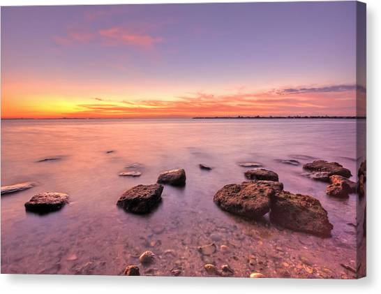 Sunrise Canvas Print - One Fine Morning by Evelina Kremsdorf