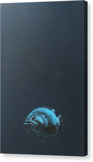 Fish Canvas Print - One Fish by Jeffrey Bess