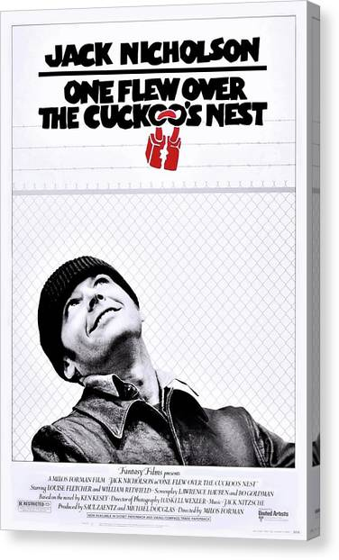 Jack Nicholson Canvas Print - One Flew Over The Cuckoo's Nest by Movie Poster Prints