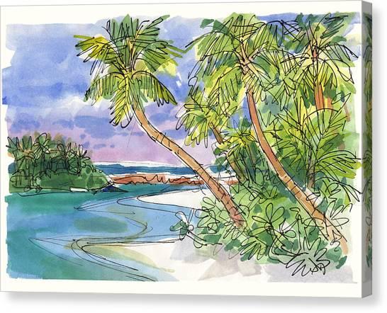 One-foot-island, Aitutaki Canvas Print