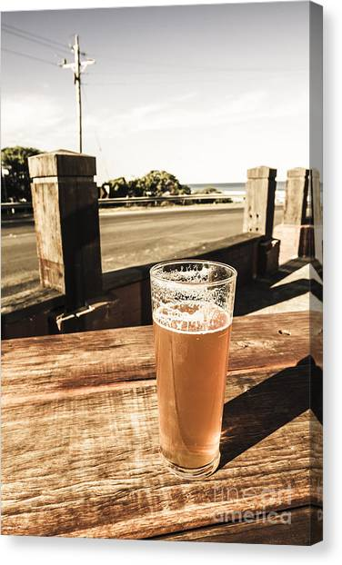 Pint Glass Canvas Print - One For The Great Ocean Road by Jorgo Photography - Wall Art Gallery