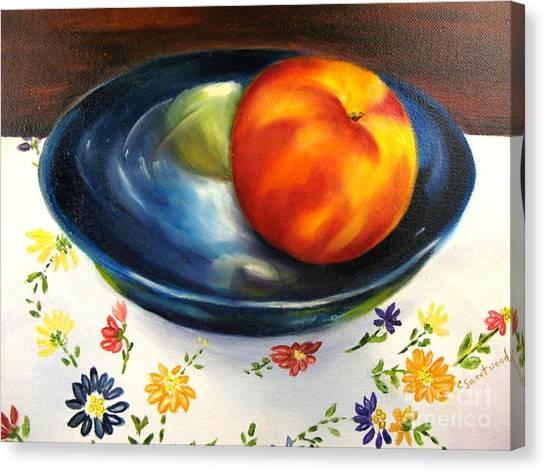 One Good Peach Canvas Print