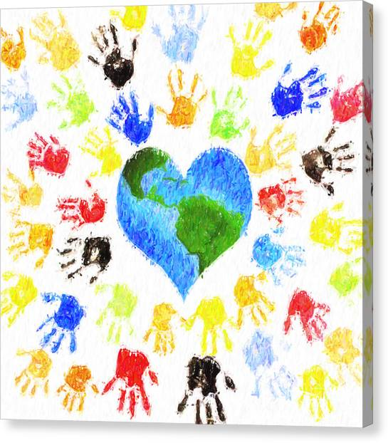 Charities Canvas Print - One Heart by Tim Gainey