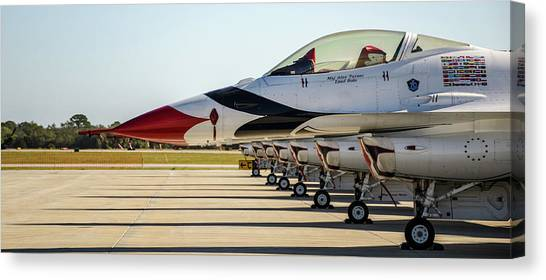 One Jet Or Seven Canvas Print