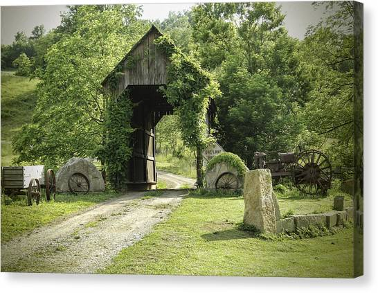 One Lane Covered Bridge Canvas Print