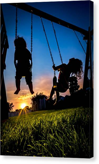 One Last Swing Canvas Print