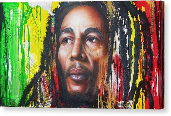 Bob Marley Artwork Canvas Print - One Life Unfinished by Tim Miklos