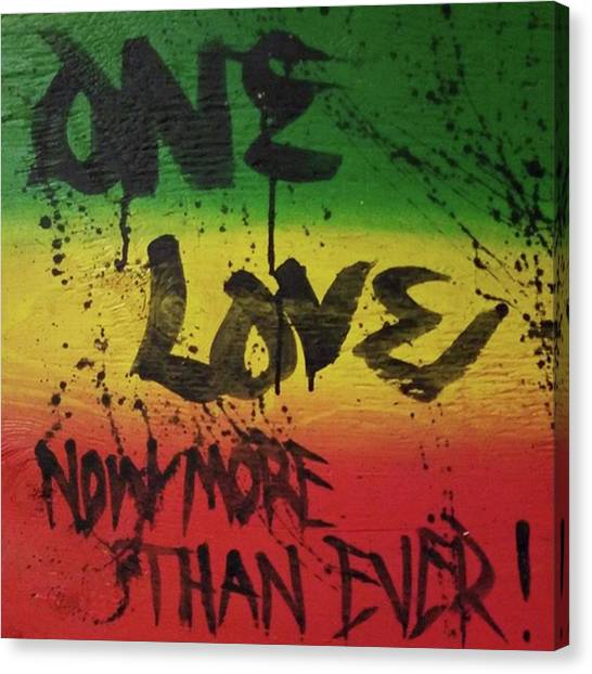 Canvas Print - One Love, Now More Than Ever By by Eyeon Energetic
