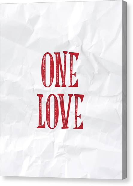 Love Canvas Print - One Love by Samuel Whitton
