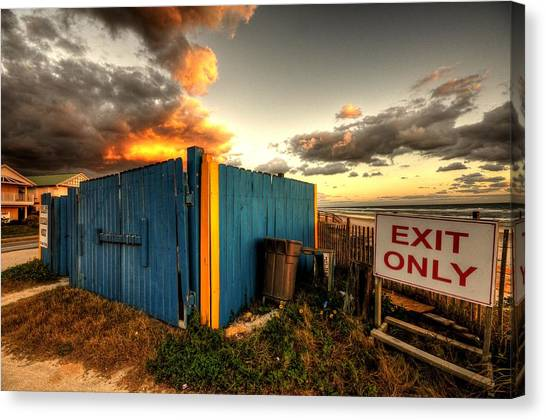 Flagler Beach Canvas Print - One Man's Trash....... by Andrew Armstrong  -  Mad Lab Images