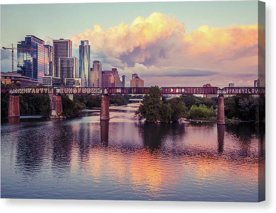 Austin Skyline Canvas Print - One Minute Burn by Slow Fuse Photography