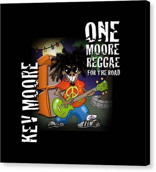 One Moore Reggae Canvas Print