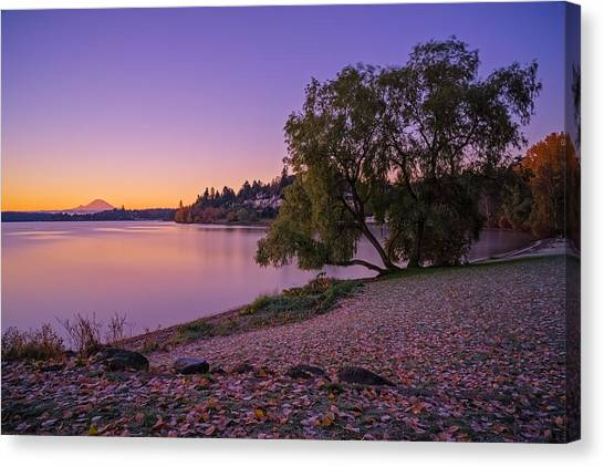 One Morning At The Lake Canvas Print
