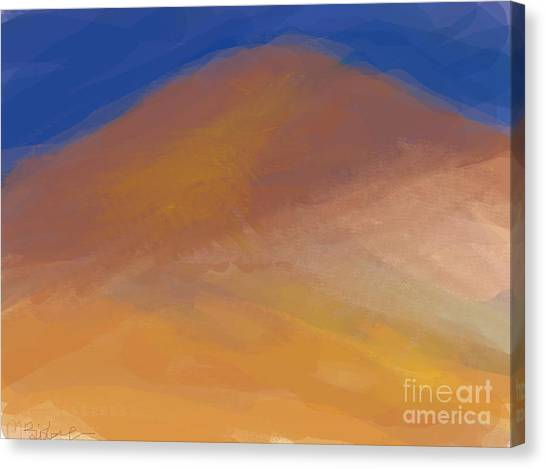 One Mountain Canvas Print by Margot Paisley