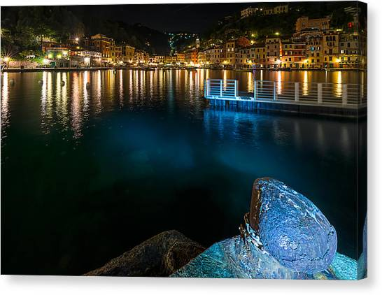 One Night In Portofino - Una Notte A Portofino Canvas Print