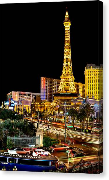 Traffic Canvas Print - One Night In Vegas by Az Jackson