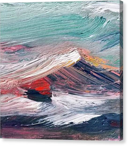 Canvas Print - Wave Mountain by Christian Ruckerbauer