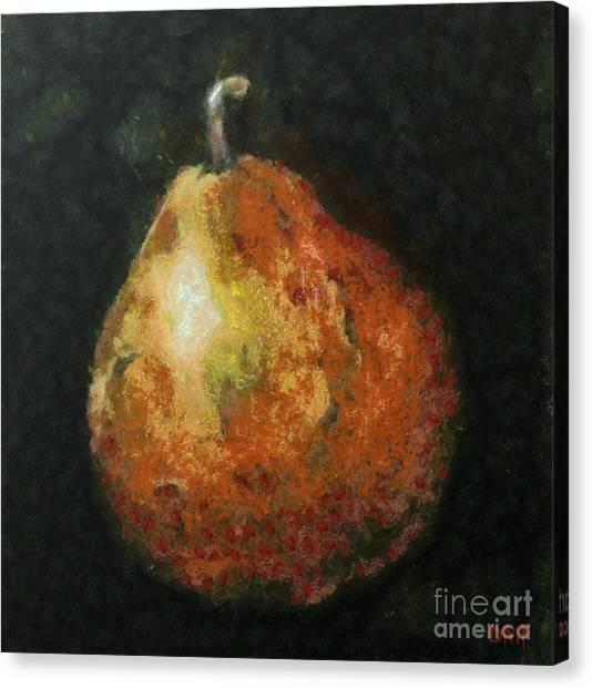 One Pear Canvas Print