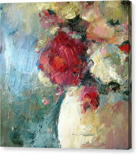 One Red Rose Canvas Print by Sharleen Boaden