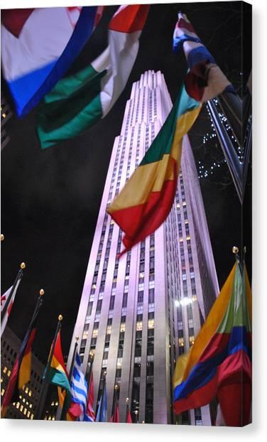 One Rockefeller Center Canvas Print by Jacqueline M Lewis