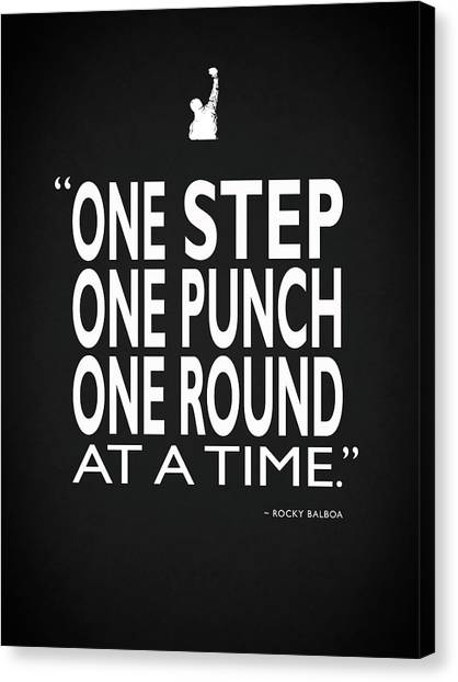 Boxing Canvas Print - One Step One Punch One Round by Mark Rogan