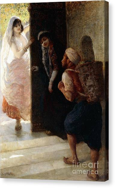 Baghdad Canvas Print - One Thousand And One Nights, The Porter Of Baghdad by Edwin Lord Weeks