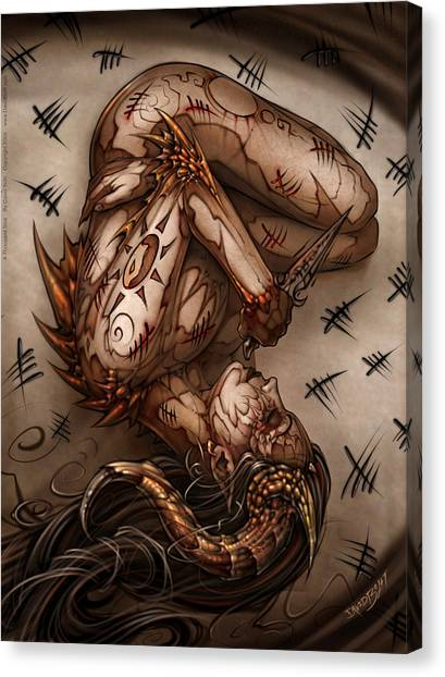 Erotic Canvas Print - One Thousand Sins by David Bollt