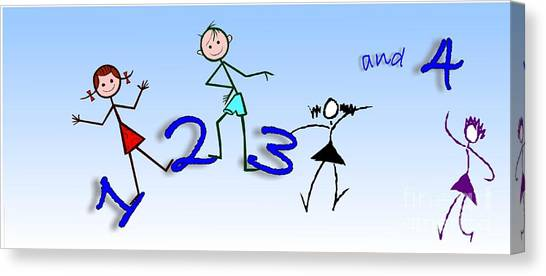 One Two Three And 4 Canvas Print by Mimo Krouzian