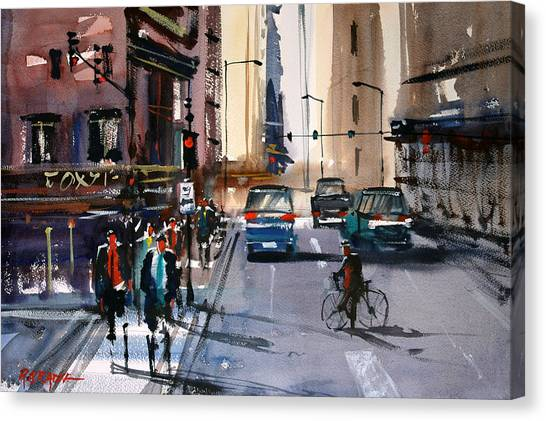 One Way Street - Chicago Canvas Print