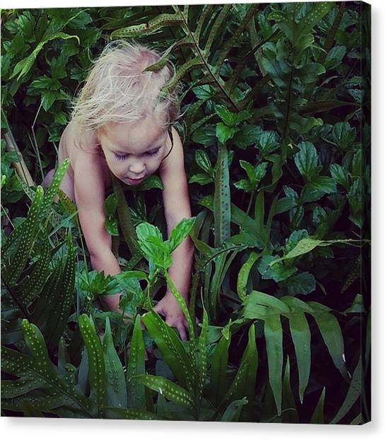 Innocent Canvas Print - One With Nature  by Kelly Keene Morrison