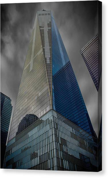 Grey Clouds Canvas Print - One World Observatory Ny by Martin Newman