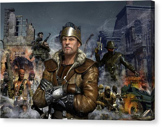 Tanks Canvas Print - One World One King by Kurt Miller