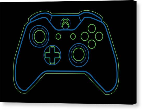 Xbox Canvas Print - One X by Lobito Caulimon