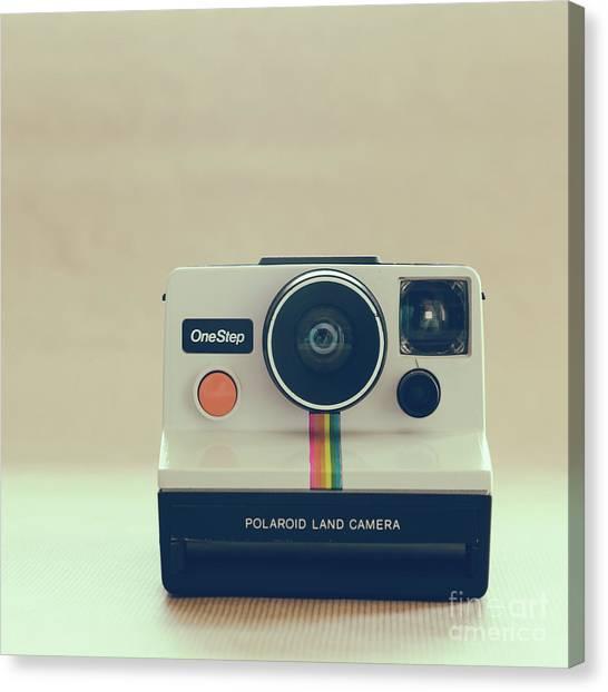 Vintage Polaroid Canvas Print - Onestep Polaroid by Ana V Ramirez