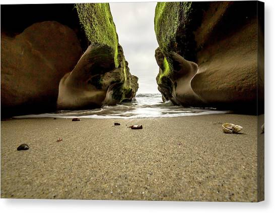 Only At Low Tide Canvas Print