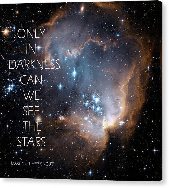 Only In Darkness Canvas Print