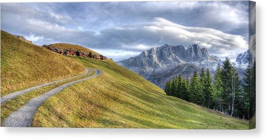 Only In The Swiss Alps Canvas Print