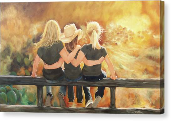 Only Sisters Know Canvas Print
