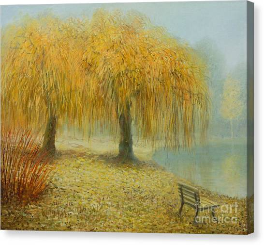 Weeping Willows Canvas Print - Only The Two Of Us by Kiril Stanchev
