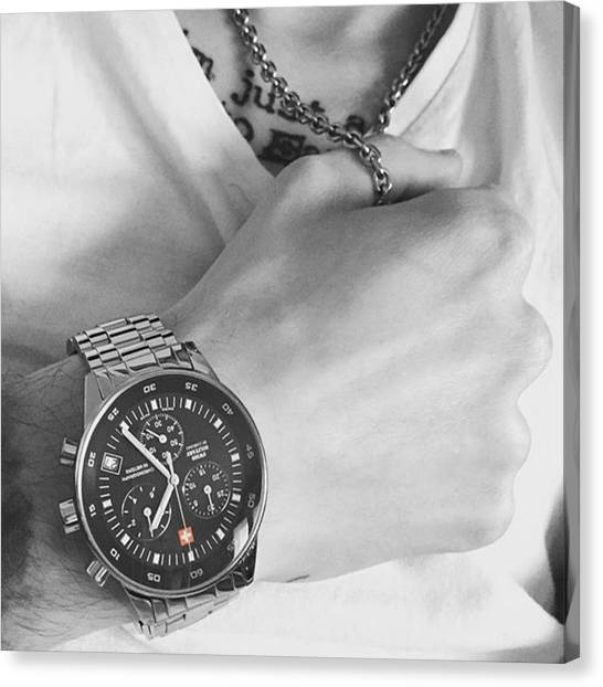Tattoo Canvas Print - Only Time Is Important!!! #steel by Jakub Horsky