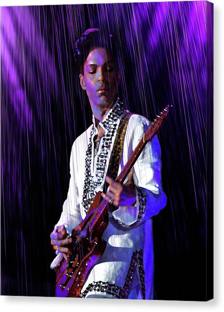 Prince Canvas Print - Only Want To See You by Mal Bray