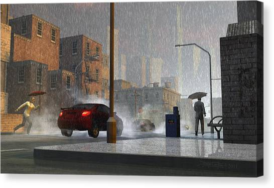 Only When It Rains Canvas Print