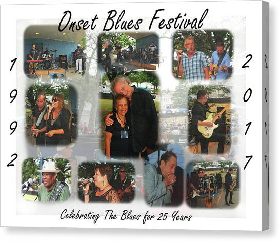 Onset Celebrates 25 Years Of Blues Canvas Print