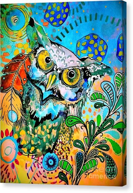 Oogke Owl Canvas Print
