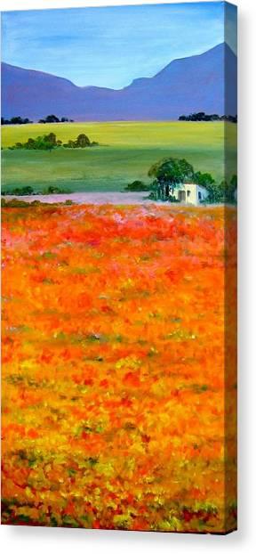 Oopsa Daisy Canvas Print by Liz McQueen