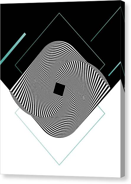 Dada Art Canvas Print - Op Art by BONB Creative