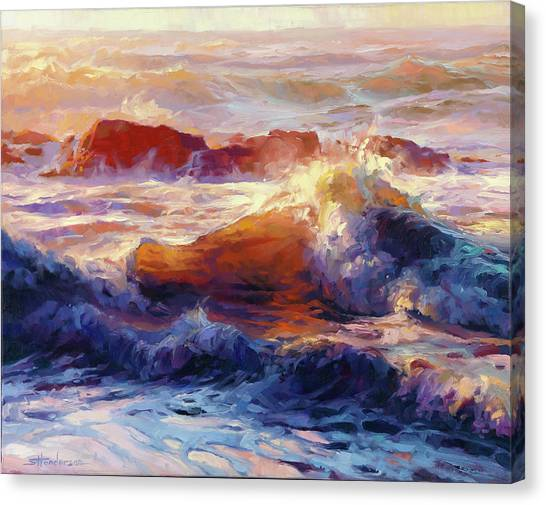 Tides Canvas Print - Opalescent Sea by Steve Henderson