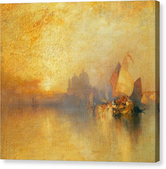 Navy Canvas Print - Opalescent Venice by Thomas Moran