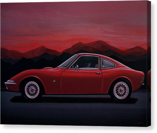 Realism Art Canvas Print - Opel Gt 1969 Painting by Paul Meijering